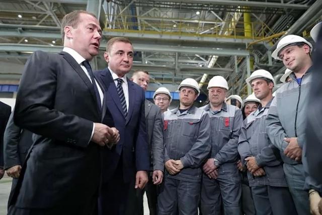 Дмитрий Медведев в Туле