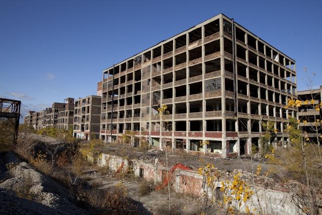 Промышленный район. Детройт. США