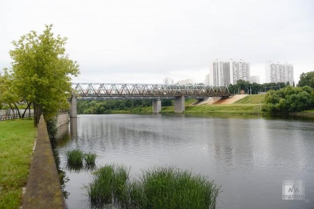 Москва-река в районе Москворечье-Сабурово
