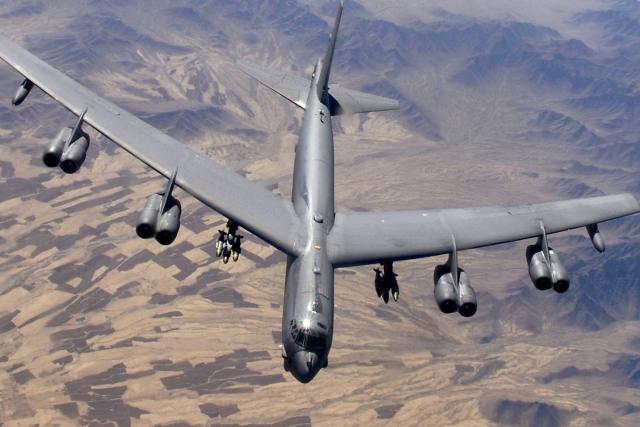 Американский стратегический бомбардировщик Боинг Б-52 «Стратофортресс»