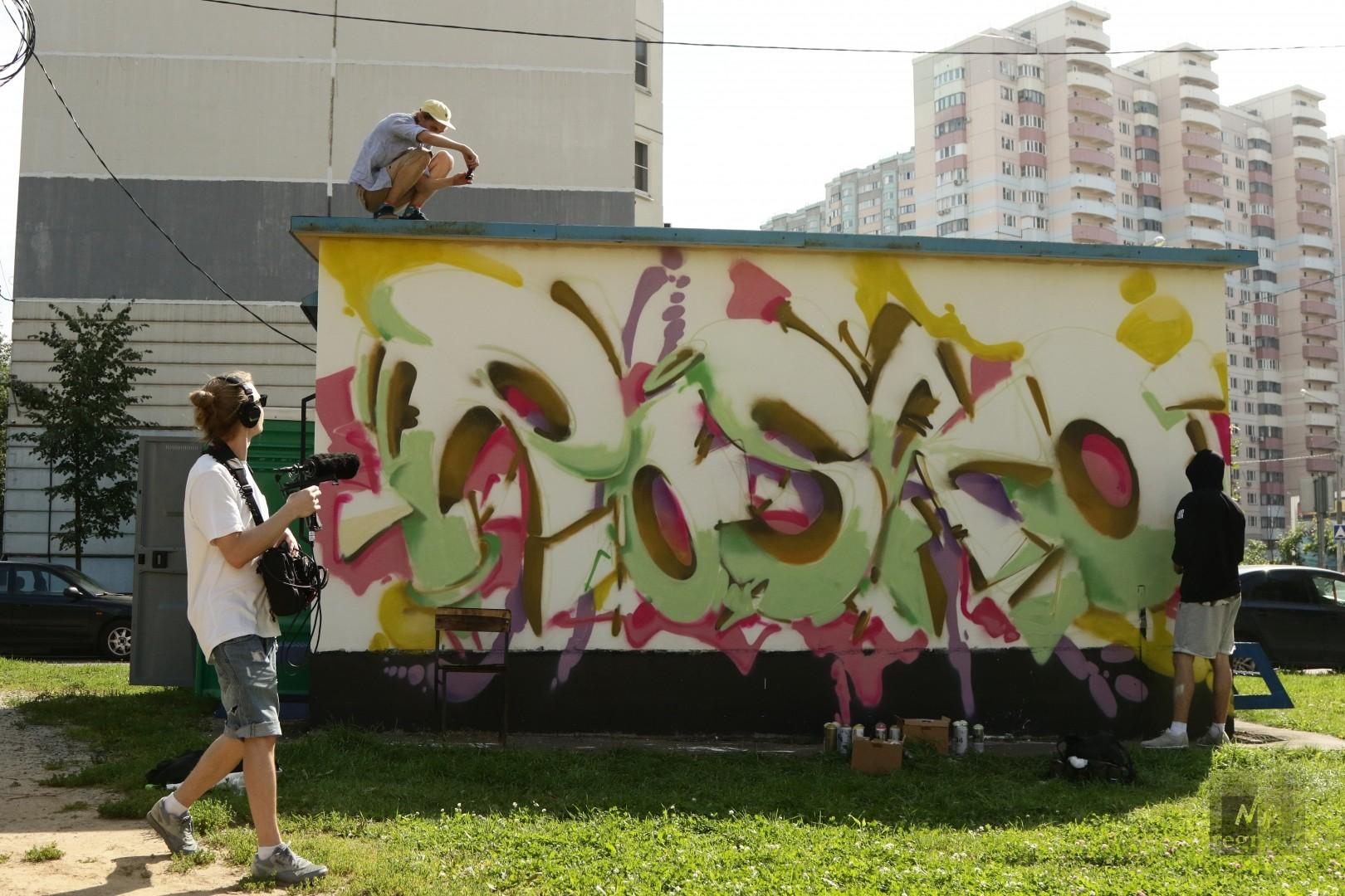 Творческий процесс на фестивале