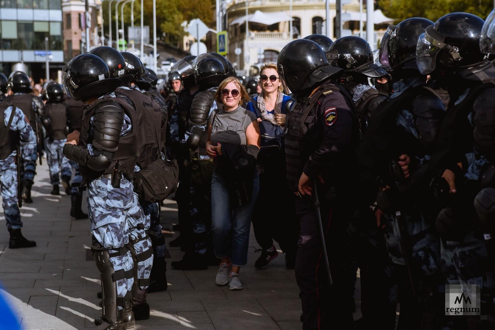 Несогласованная акция протеста в Москве