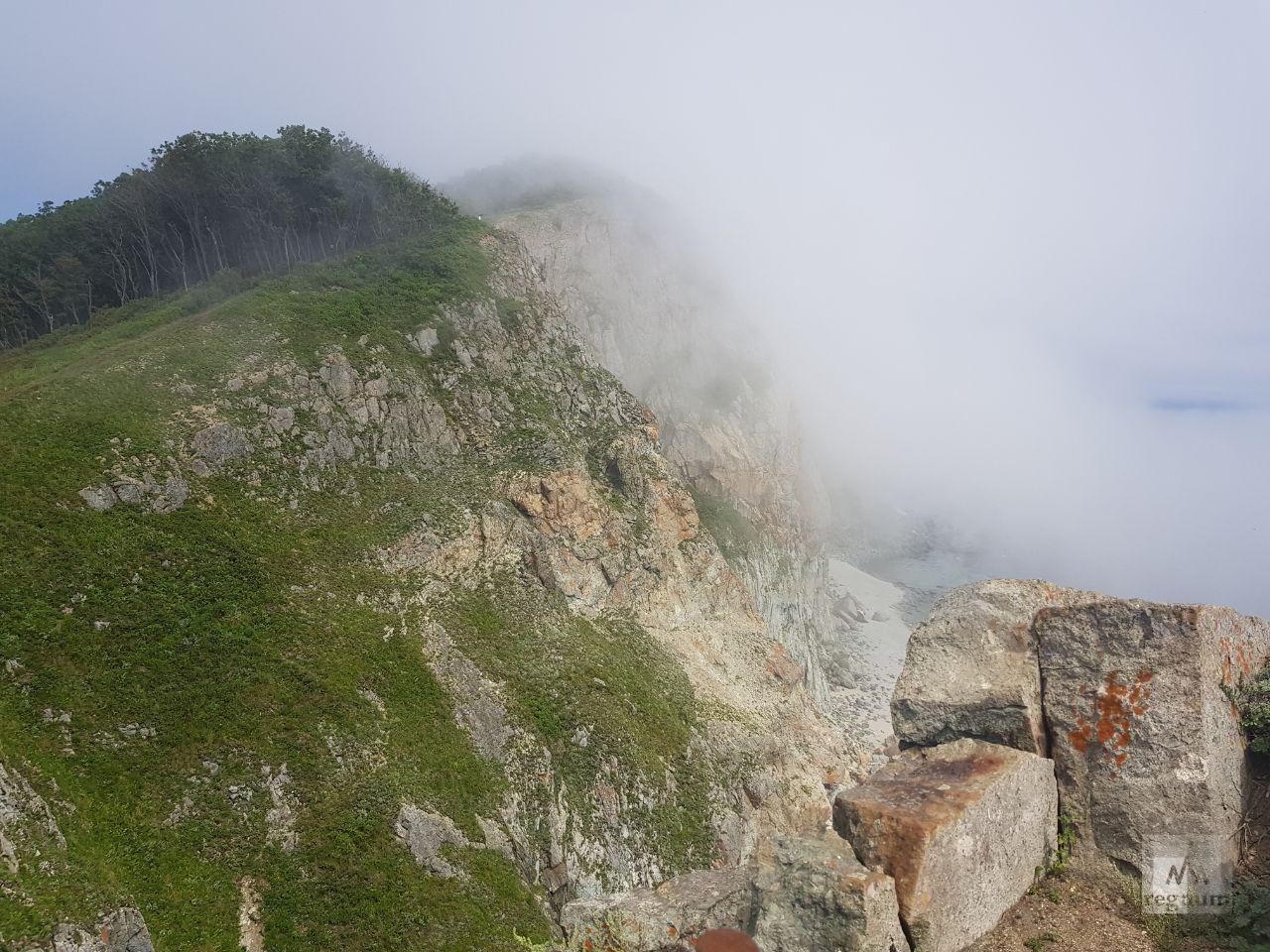 Мыс Балюзек в тумане
