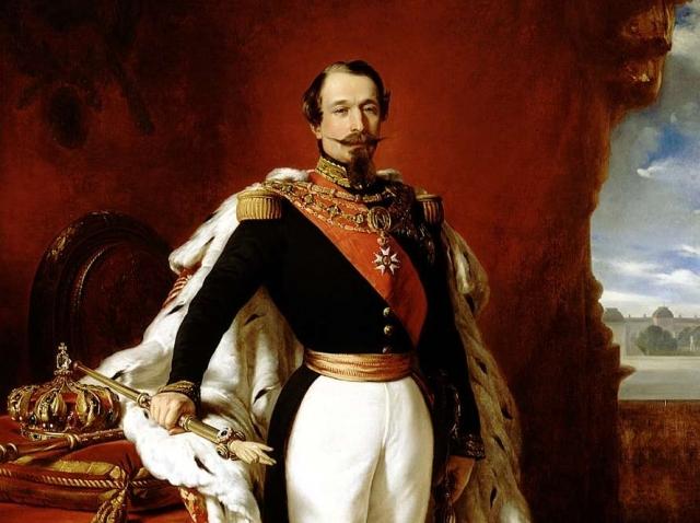 Франц Винтерхальтер. Наполеон III (фрагмент) 1855