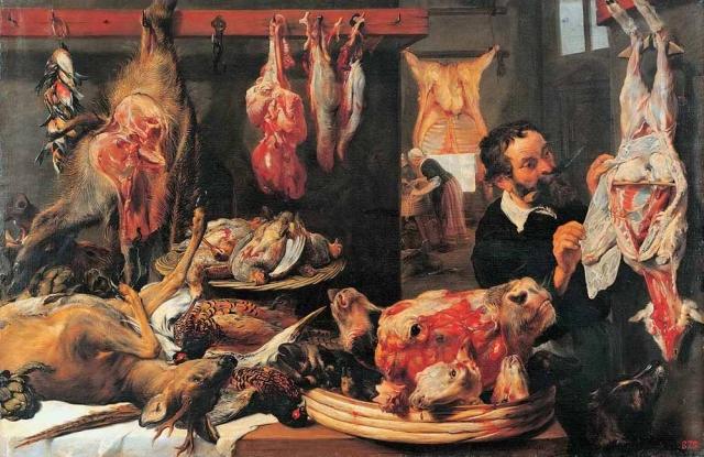 Франс Снайдерс. Мясная лавка. 1630-е
