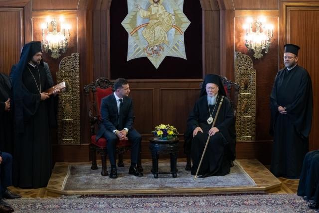 Президент Украины провел встречу со Вселенским Патриархом