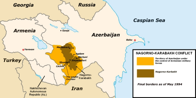 Армения, Азербайджан и спорные территории в Нагорном Карабахе