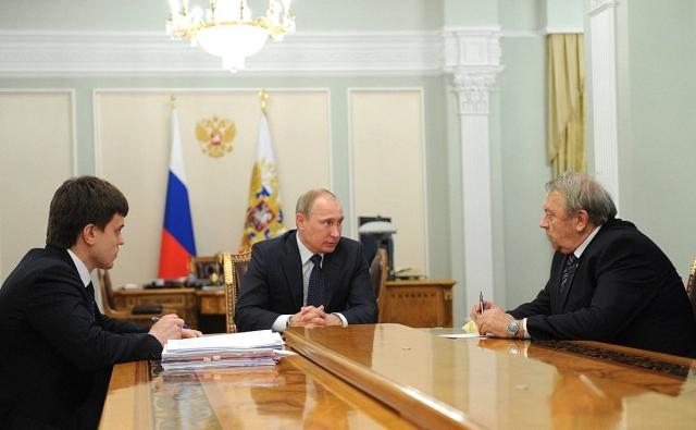 Встреча Владимира Путина с президентом РАН Владимиром Фортовым и руководителем ФАНО Михаилом Котюковым