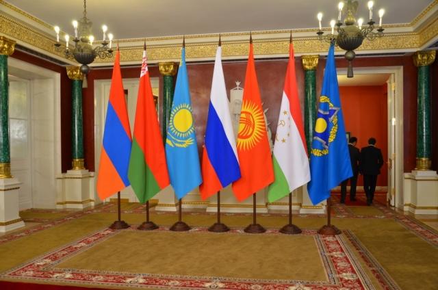 Флаги стран участниц ОДКБ