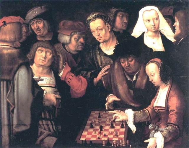 Игра в шахматы, около 1508
