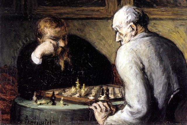 Оноре Домье. Шахматисты.1867
