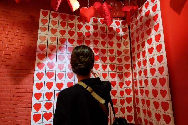 Сердца в комнате любви