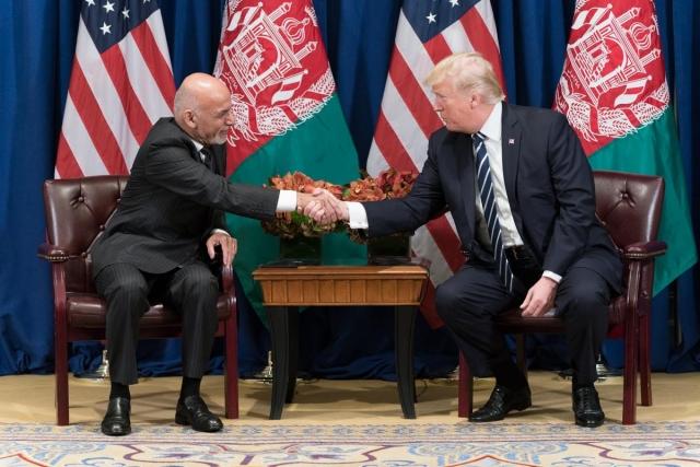 Встреча Дональда Трампа и Ашрафа Гани в 2017 году