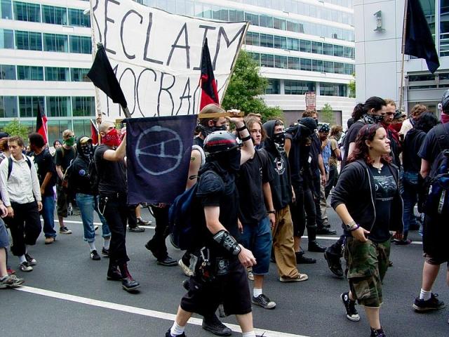 Активисты Черного блока