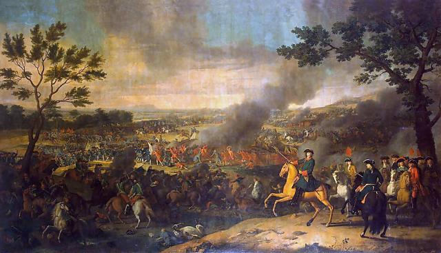 Луи Каравак. Полтавская битва. 1718