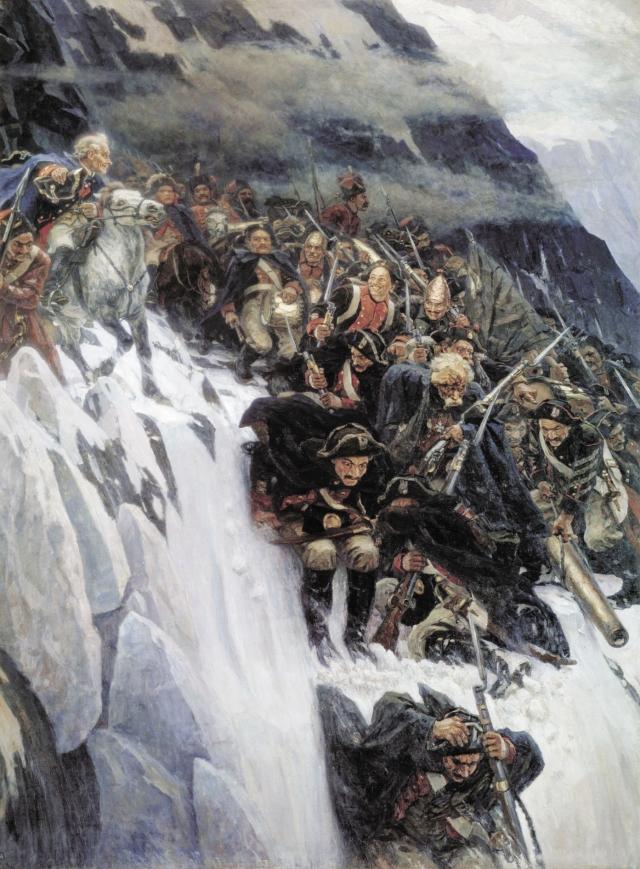 Василий Суриков. Переход Суворова через Альпы. 1899