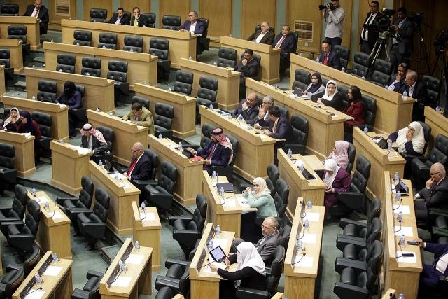 Палата представителей Иордании во время парламентской сессии