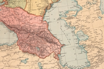 Каспий на старой карте,
