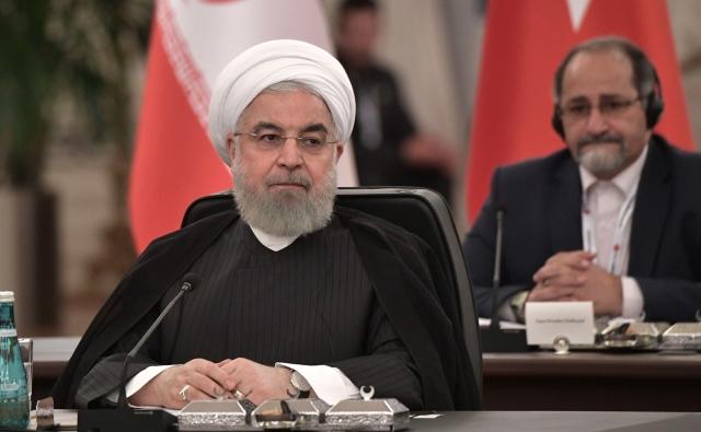 Встреча глав государств – гарантов Астанинского процесса содействия сирийскому урегулированию. Хасан Рухани