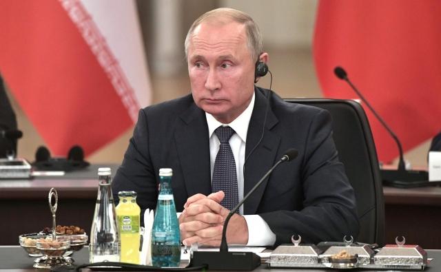 Встреча глав государств – гарантов Астанинского процесса содействия сирийскому урегулированию. Владимир Путин