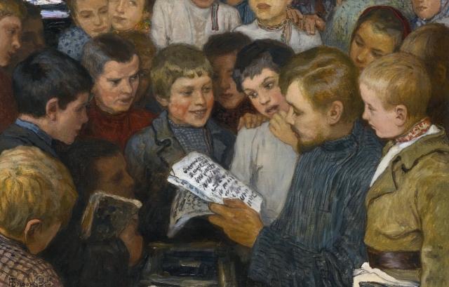 Николай Богданов-Бельский. Сельская школа. 1898 г