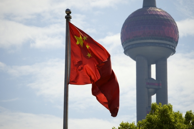 Флаг КНР. Шанхай