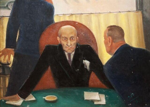 Георгий Ряжский. Крах банка (фрагмент). 1932 г