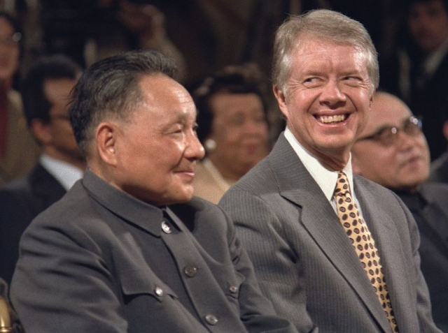 Дэн Сяопин с Джимми Картером. 1979 год