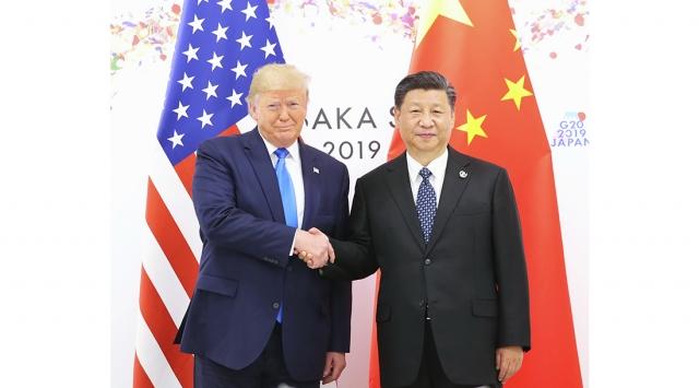 Дональд Трамп и Си Цзиньпин на полях саммита G20. 2019