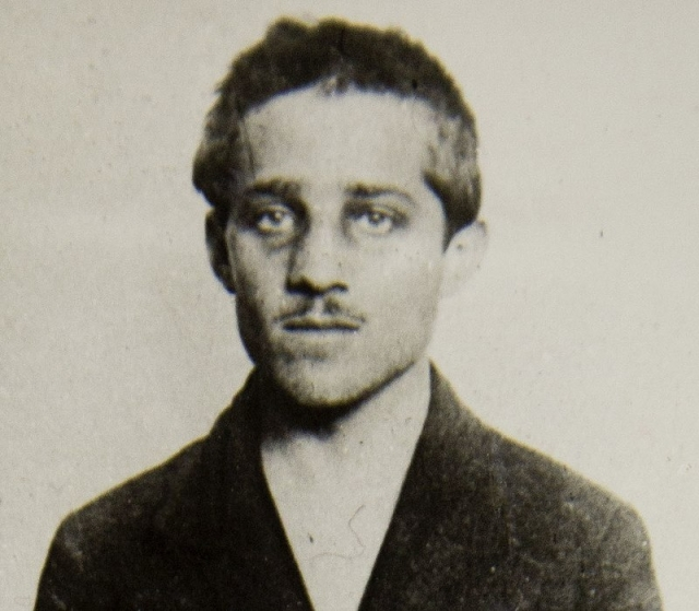 Гаврило Принцип в тюремной робе в Терезине