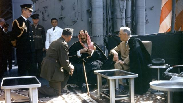 Абдул-Азиз Аль Сауд и Франклин Делано Рузвельт