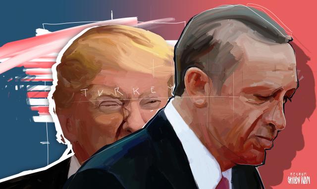 Дональд Трамп и Раджеп Эрдоган