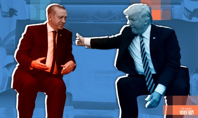 Реджеп Эрдоган и Дональд Трамп