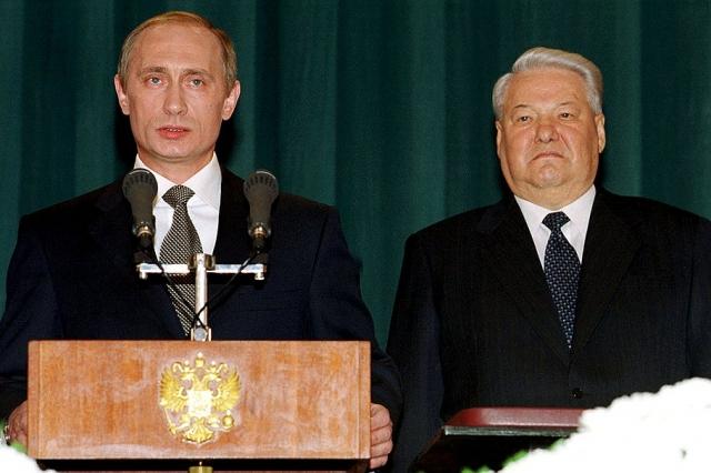 Инаугурация. Владимир Путин, Борис Ельцин. 7 мая 2000