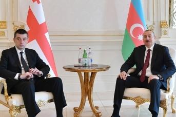 Ильхам Алиев принял премьер-министра Грузии Георгия Гахарию