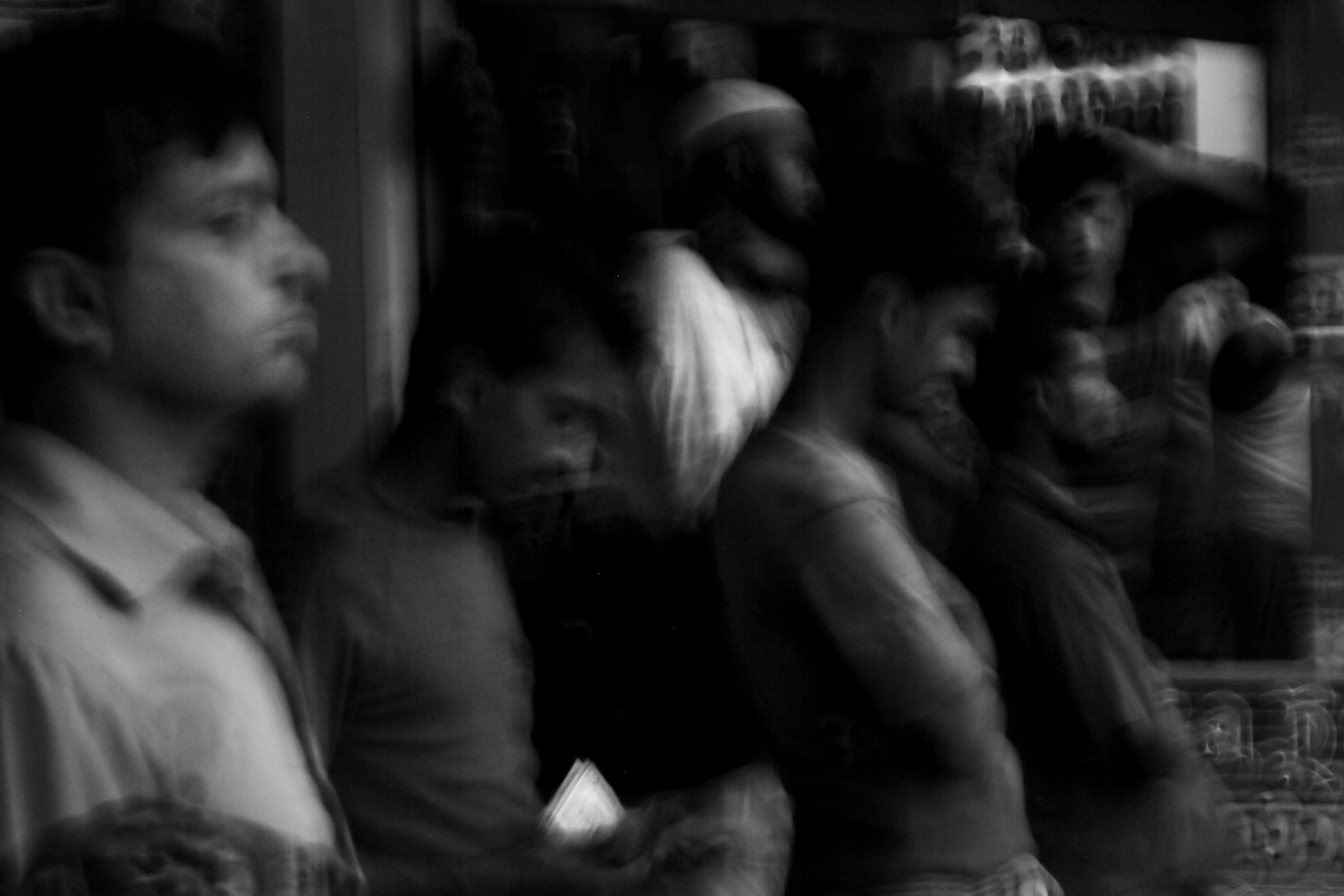 Мужчины на улице в Дакке