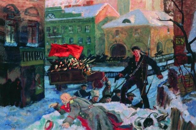 Борис Кустодиев. Октябрь в Петрограде. 1927