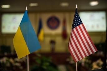 Флаги США и Украины