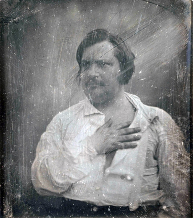 Оноре де Бальзак с дагерротипа Louis-Auguste Bisson. 1842