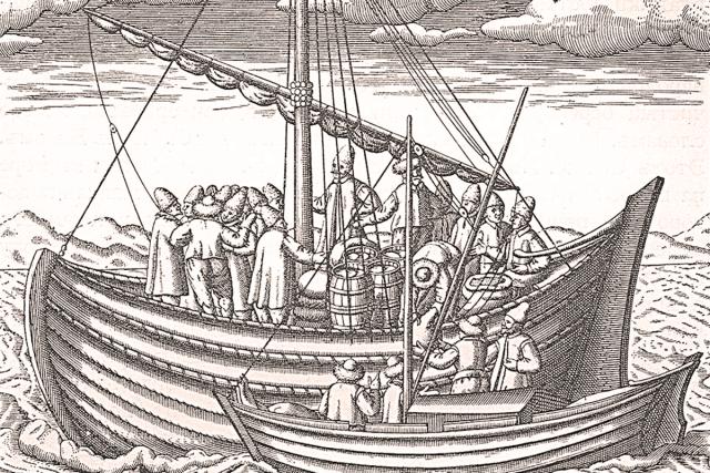 Русская ладья. 1598 г. Из Морского дневника Г. де Фера