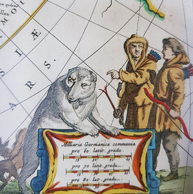 Жители Русского Севера на карте семейства Блау 1638 года