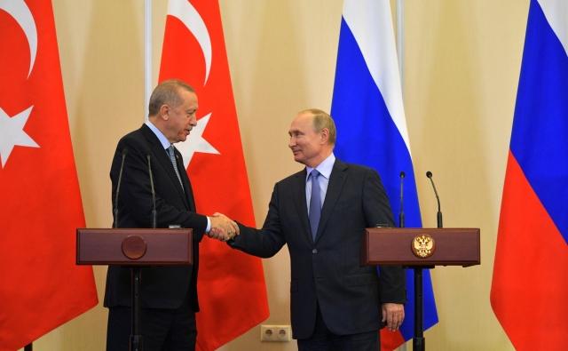 Владимир Путин и Реджеп Эрдоган. Заявления для прессы по итогам российско-турецких переговоров