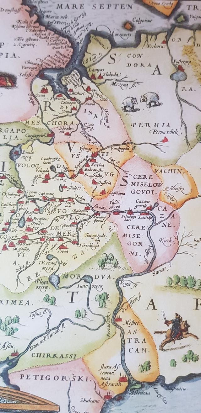 Карта Московского царства Энтони Дженкинсона 1558 года. Практической ценности не имела