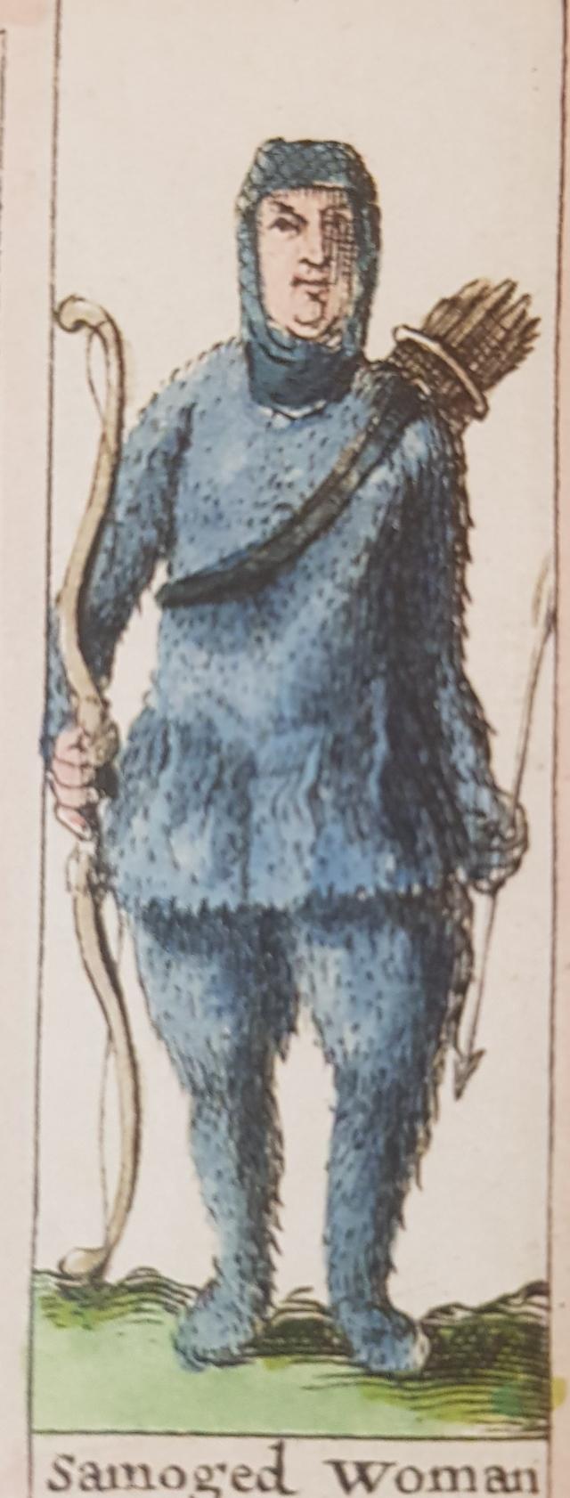 Женщина-самоед на голландской карте XVII века