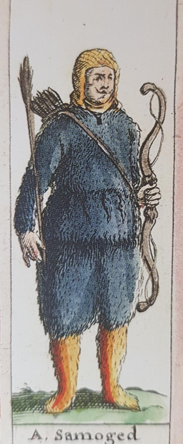 Мужчина-самоед на голландской кате XVII  века