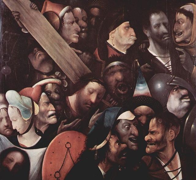 Иероним Босх. Несение креста. 1490 — 1500