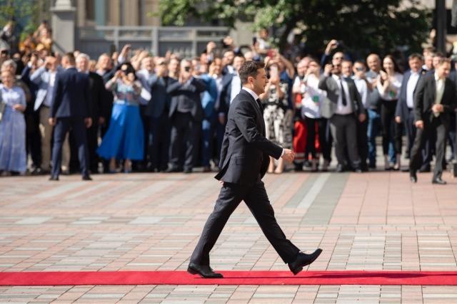 Владимир Зеленский после победы на выборах