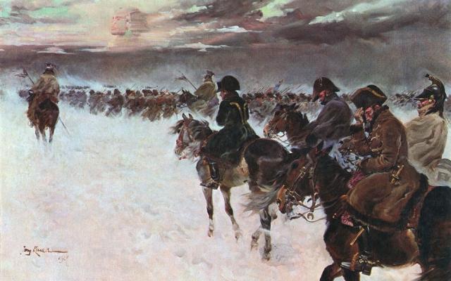 Ежи Коссак. Отступление Наполеона из России