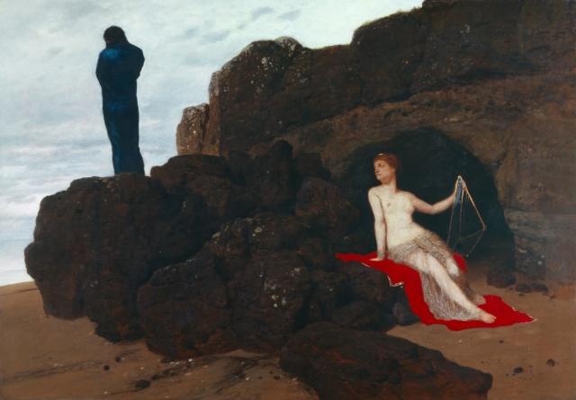 Арнольд Бёклин. Одиссей и Калипсо. 1882