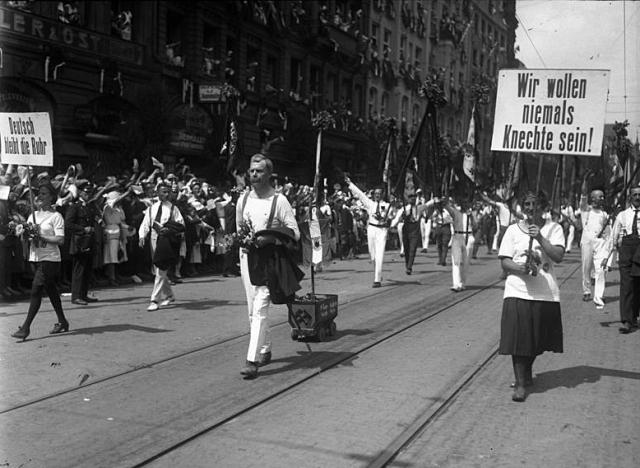Протест против оккупации Рура, июль 1923 года